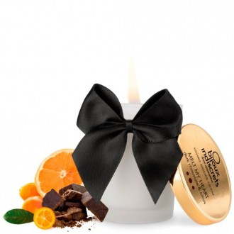 MELT MY HEART EDIBLE CANDLE BIJOUX INDISCRETS DARK CHOCOLATE AND CITRUS 70ML