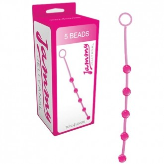 JAMMY JELLY 5 ANAL BEADS PINK