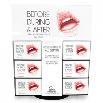BEFORE, DURING & AFTER DISPLAY WITH 36 PACKAGING