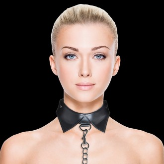 OUCH! EXCLUSIVE COLLAR WITH LEASH BLACK