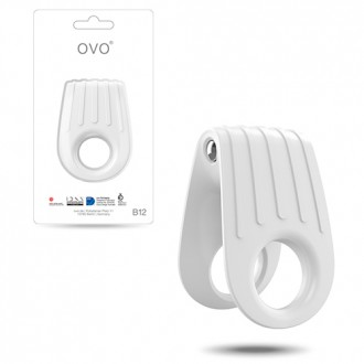 OVO B12 DOUBLE PENIS RING  WHITE