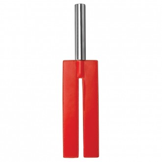 AZOTADOR OUCH! LEATHER SLIT PADDLE ROJO