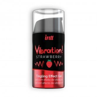 INTT VIBRATION STRAWBERRY GEL 15 ML
