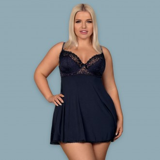 OBSESSIVE DRIMERA BABYDOLL AND THONG TAILLE QUEEN BLUE