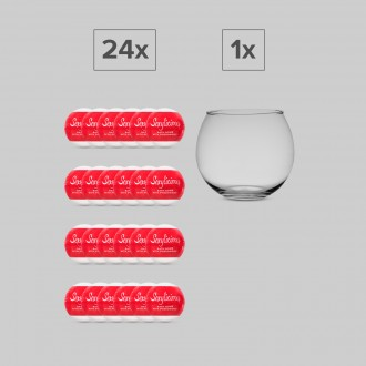 SEXYLICIOUS SET 24 BATH BOMBS + 1 GLASS GLOBE DISPLAY OBSESSIVE