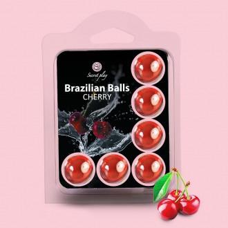 KISSABLE LUBRICANT BALLS CHERRY FLAVOUR 6 x 4GR