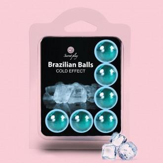 BOLAS LUBRICANTES BRAZILIAN BALLS EFECTO FRESCOR 6 x 4GR