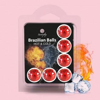 BOLAS LUBRIFICANTES BRAZILIAN BALLS EFEITO FRIO E CALOR 2 x 4GR
