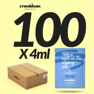 PACK DE 100 SAQUETAS DE LUBRICANTE A BASE DE AGUA 4 ML CRUSHIOUS