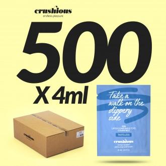 PACK DE 500 SAQUETAS DE LUBRICANTE A BASE DE AGUA 4 ML CRUSHIOUS