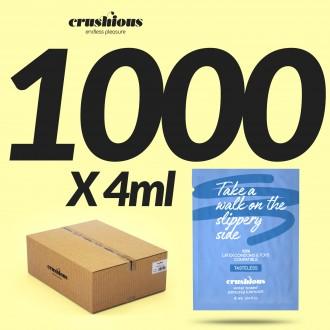 PACK DE 1000 SAQUETAS DE LUBRICANTE A BASE DE AGUA 4 ML CRUSHIOUS