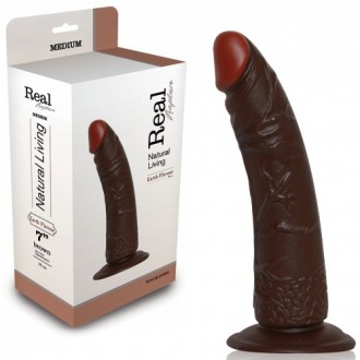 REAL RAPTURE EARTH FLAVOUR REALISTIC DILDO 7'' BLACK